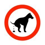 De hond van Pooping Royalty-vrije Stock Foto's