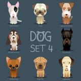 De honden plaatsen 3 Vectorras van honden Stock Afbeeldingen