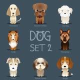 De honden plaatsen 2 Vectorras van honden Royalty-vrije Stock Foto