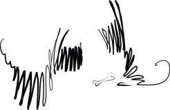 De honden van de wind royalty-vrije illustratie