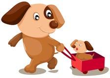 De honden van het beeldverhaal Stock Foto