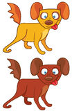 De Honden van het beeldverhaal Stock Foto's