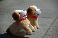 De honden van het stuk speelgoed stock foto's