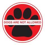 De honden worden niet toegestaan Stock Afbeeldingen