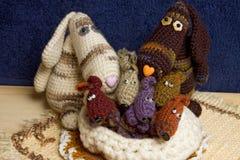 De hondfamilie van het stuk speelgoed Stock Foto's