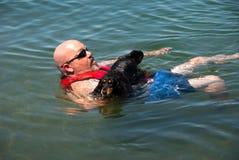 De hondvlot van Weiner stock foto