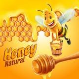 De honing van de bij vector illustratie