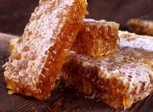 De honing van de honingraat Stock Foto