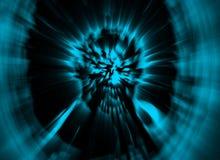 De hoofd blauwe dekking van de woedezombie Illustratie in genre van verschrikking vector illustratie