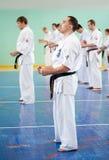 De hoofd karate geeft een les Royalty-vrije Stock Afbeelding