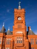 De Hoofdbouw van de pijler in Cardiff, Wales stock foto's