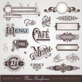De hoofddeksels van het menu Stock Afbeelding