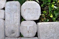 De Hoofden van de steen stock foto's