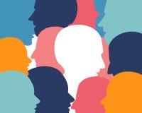 De hoofden van het mensenprofiel Stock Foto's
