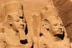 De hoofden van Simbel van Abu, Egypte, Afrika royalty-vrije stock afbeeldingen