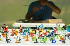 De hoofdglasventilator vervaardigt miniatuurbeeldjes van glas royalty-vrije stock foto's