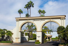 De Hoofdingang van de Studio's van Paramount Stock Afbeeldingen