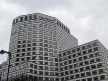 De hoofdkwartierbouw in kanariewerf, Londen Credit Suisse royalty-vrije stock fotografie