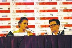De hoofdleden van de de concurrentiejury, Internationaal de Filmfestival van 38ste Moskou Royalty-vrije Stock Foto
