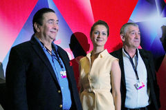 De hoofdleden van de de concurrentiejury, Internationaal de Filmfestival van 38ste Moskou Stock Foto