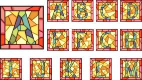 De hoofdlettersalfabet van het mozaïek. Stock Foto's