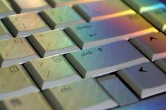 De Hoofdlettertoets van de regenboog Stock Foto