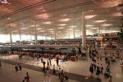 De HoofdLuchthaven van Peking. Terminal 3 (T3) Stock Foto