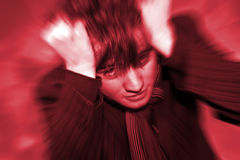 De hoofdpijn van Angst van de Jongen van de tiener Royalty-vrije Stock Fotografie