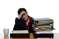 De Hoofdpijn van de migraine - sluit Royalty-vrije Stock Afbeeldingen