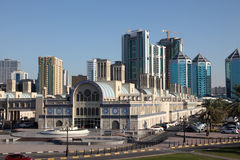 De hoofdsouq-Bouw in de Stad van Sharjah Stock Foto