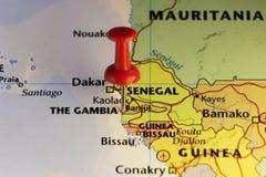 De hoofdstad van Banjul van Gambia Royalty-vrije Stock Afbeelding