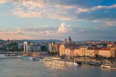 De Hoofdstad van Hongarije, Boedapest stock afbeelding