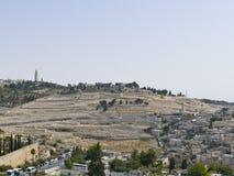 De hoofdstad van Israël - Jeruzalem De oude Joodse begraafplaats o Stock Afbeelding