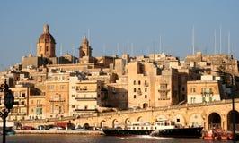 De hoofdstad van Valletta van Malta Stock Foto