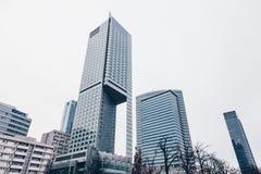 De Hoofdstad van Warshau van Polen - Moderne wolkenkrabbers - financiën en economie nieuw commercieel centrum stock fotografie