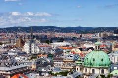 De Hoofdstadcityscape van Wenen in Oostenrijk Royalty-vrije Stock Afbeelding