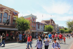 De hoofdstraat, de V S A in Disneyland Californië Royalty-vrije Stock Foto