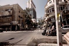 De hoofdstraat in Tel Aviv stock afbeeldingen