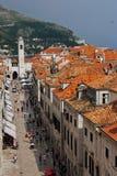 De hoofdstraat van Dubrovnik royalty-vrije stock fotografie