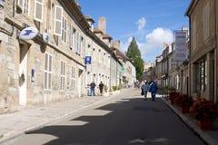 De hoofdstraat in Vezelay-Abdij in Frankrijk Royalty-vrije Stock Foto's