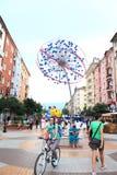 De hoofdstraatmening Bulgarije van Sofia Stock Afbeelding