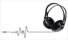 De hoofdtelefoons van de muziek Stock Foto