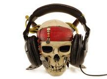 De hoofdtelefoons van de schedel Stock Foto