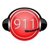 de hoofdtelefoonteken van het 911 afdelingsbrandblusapparaat Royalty-vrije Stock Afbeeldingen