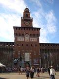 De Hoofdtoren van het Sforzakasteel ` s royalty-vrije stock afbeeldingen