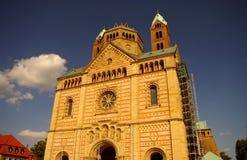 De hoofdvoorzijde van de Kathedraal van Speyer, Duitsland Royalty-vrije Stock Afbeelding