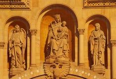 De hoofdvoorzijde van de Kathedraal van Speyer, Duitsland Royalty-vrije Stock Afbeeldingen