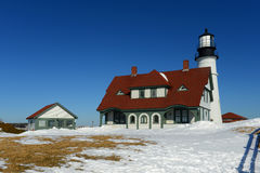 De HoofdVuurtoren van Portland, Maine Stock Foto's