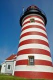 De HoofdVuurtoren van Quoddy van het westen, Maine, de V.S. stock fotografie