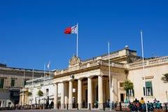 De hoofdwachtbouw, Valletta Stock Afbeeldingen